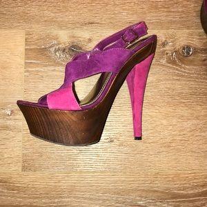 Hot Pink Stiletto heels size 7